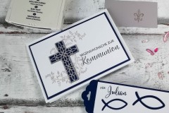 Karte und Anhänger Kommunion